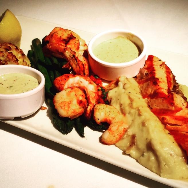 [Seafood on seafood on seafood!]