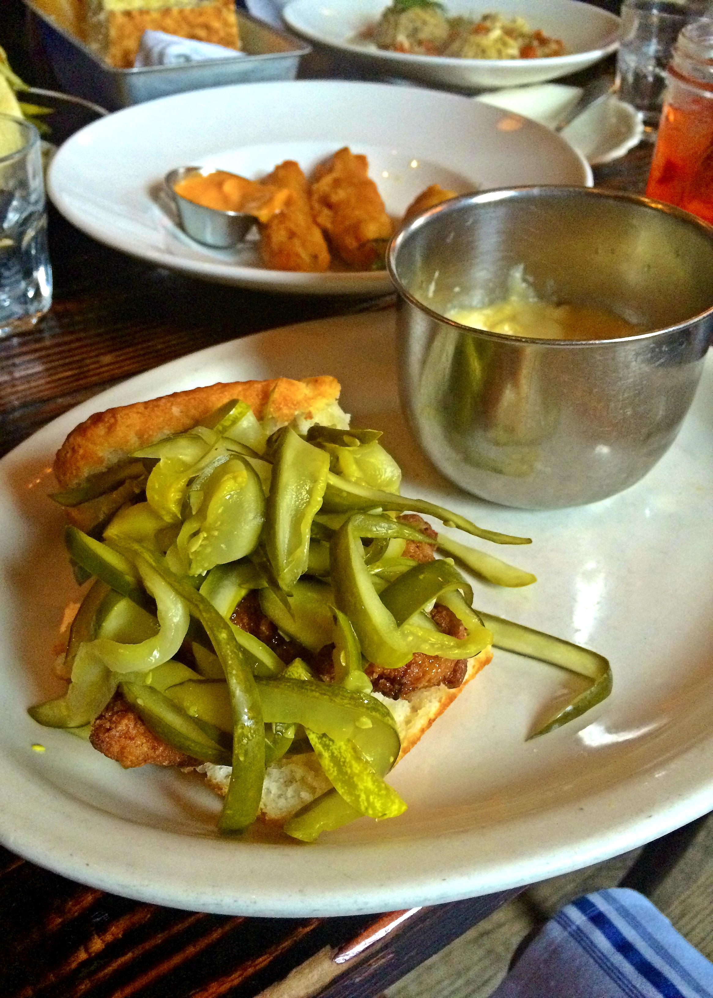 Chicken Biscuit Sandwich-honey chicken & pickles buttermilk fried ...